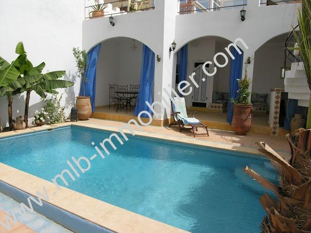 Vente maison de ville agadir tamghart meubl for Prix piscine 6x3